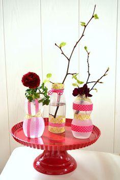 Vasen aus Smoothiefläschchen