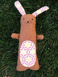 Tall Rabbit with floppy ears by AppleOrchardPlush on Etsy