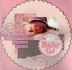 baby girl scrapbook layouts | baby girl scrapbook layouts | Sweet Baby Girl - Scrapbook.com | Baby ...