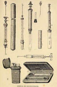 old illustration morphine kit Medical Art, Medical History, Arsenal, Susanoo Naruto, Medical Equipment, Plague Doctor, Medical Illustration, Instruments, Human Body