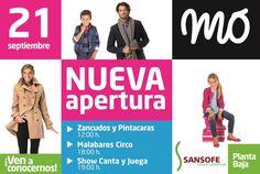 MÓ ¡¡¡NUEVA APERTURA!!! :D  El próximo sábado 21 abrimos la nueva tienda MÓ en el Centro Comercial SANSOFÉ (San Isidro, sur de Tenerife).