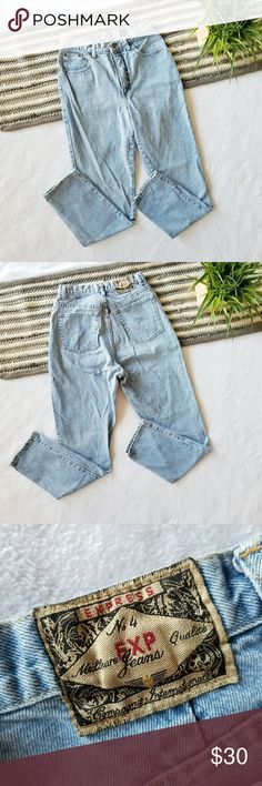 """Vintage High Waist Mom Jeans Super high quality, 80s Vintage dark wash jeans. Extreme high waist!  ❌No Modeling Waist(laying flat) 13 1/2"""" Rise 12"""" Hips(laying flat) 19 1/2"""" Inseam 30""""  Brand: No. 4 EXP Jeans Size:11/12 (please refer to measurements, as vintage sizing is very different than modern sizing) Condition: no major flaws, no rips holes or stains. Amazing vintage condition. Normal distressing around waist and hem of pant legs.  #vtg #vintage #vintagedenim #momjeans #vintagejeans…"""