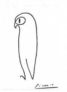 just a few lines. owl by picasso