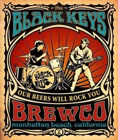 THE BLACK KEYS : Manhattan Beach California – US Concert Imported Music Wall Poster Print – 30CM X 43CM Brand New: Amazon.de: Küche & Haushalt