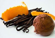Bombón chocolate, naranja, vainilla - TELVA #Postres #Cocina #Gourmet