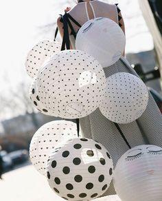 Wunderschöne Papierlampenschirme im Pünktchenlook von Miss Étoile