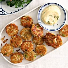 Mini Crab Cakes with Dijon Aioli