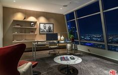 Los Angeles Skyline, Downtown Los Angeles, Grammy Museum, City Office, Corner Desk, Condo, Custom Design, Lounge, The Unit
