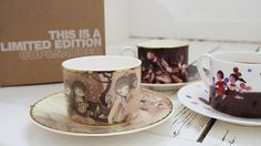 Limited Edition Cup & Saucer by Amy Sol