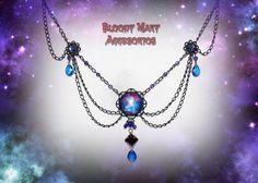 Victorian Choker Galaxy Necklace Gothic por BloodyMaryAccesorios