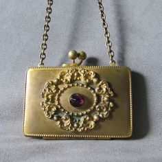 SOLD...Antique Victorian, Art Nouveau Compact, Coin Purse by Neatcurios on Etsy