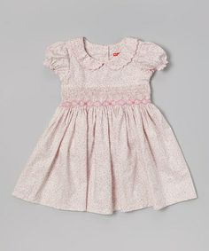 Look what I found on #zulily! Pink Floral Maggie Peggy Peter Pan Collar Dress - Girls #zulilyfinds
