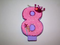 Princess Birthday Candle by SweetLilPeaches on Etsy