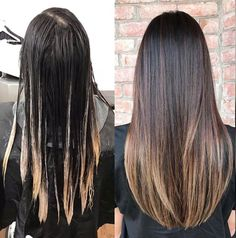 87 unique ombre hair color ideas to rock in 2018 - Hairstyles Trends Long Hair Highlights, Hair Color Streaks, Brown Hair Balayage, Ombre Hair Color, Hair Color For Black Hair, Hair Color Balayage, Hair Color Formulas, Hair Color Techniques, Gorgeous Hair