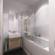 Rekonstrukce malé panelákové koupelny v Brně – Novém Lískovci v moderním minimalistickém designu. Koupelna má rozměry 2,60 x 1,83 metrů, což je celkem 3,9 m2.