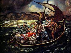 Giorgio de Chirico - Christ and the Storm, 1914