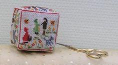 Red Riding Hook cube biscornu