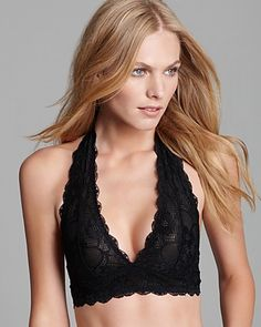 Free People Halter Bra - Galloon Lace #F763O915 | Bloomingdale's