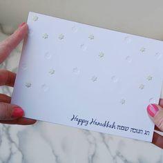 Hanukkah Greeting Card The Star of David Jewish Star #NorthHillJudaic #HanukkahGifts #etsyshop