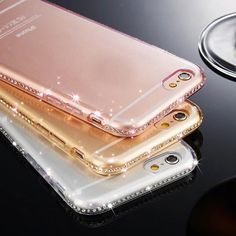 Ultra Thin Crystal Diamond Bling Gel Transparent Phone Case for iPhone 5 6 - Transparent Iphone 6 Plus Case - Transparent Iphone 6 Plus Case for sales. - Ultra Thin Crystal Diamond Bling Gel Transparent Phone Case for iPhone 5 6 Plus Coque Iphone 5s, Coque Smartphone, Case Iphone 6s, Pink Iphone, Iphone Case Covers, Iphone Se, Ios Phone, Free Iphone, Apple Iphone 5