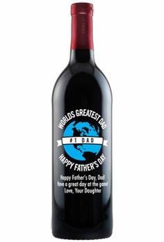 Etched Wine Bottles - Father's Day