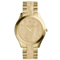 Michael Kors MK4285 Womens Runway Horn and GoldTone Stainless Steel Bracelet Watch ** Read more reviews of the product by visiting the link on the image.Note:It is affiliate link to Amazon.
