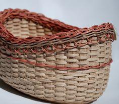 Handmade Cinnamon Oval Basket