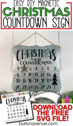 Easy Magnetic Christmas Countdown Sign - Burton Avenue