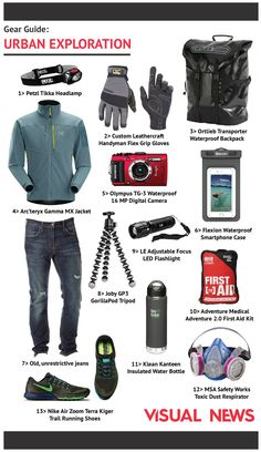 Gear Guide: What to Take on an Urban Exploration