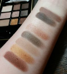 Swatches of the Hard Candy Natural Eyes palette! This is a pretty good affordable alternative to the Too Faced Natural Eyes palette. Very similar colors, and the mattes in this one are so soft and pigmented.