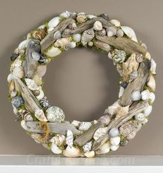 How to DIY a Driftwood & Seashell Wreath with your beach finds.