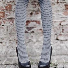 Love these literary tights!