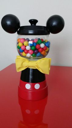 Mickey Mouse Gumball Favors by KreationsByMarcia on Etsy, $13.50