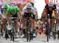 2011- Stage 5; Cavendish beats out Gilbert.