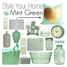 """Style Your Home: Mint Green"" by southernpearldesigns ❤ liked on Polyvore"