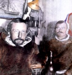 Amundsen and Hanssen on the Gjoa
