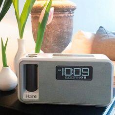 iKN105 Dual Charging Bluetooth Stereo Alarm Clock #Alarm, #Bluetooth, #Clock