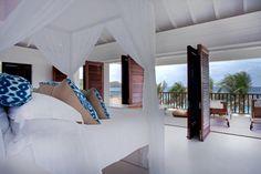 Dreamy!! Saint Barthelemy Beach House on #ThisIslandLife #Bedroom