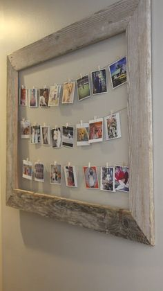make a reclaimed wood frame to hang photos or artwork on My Sweet Savannah