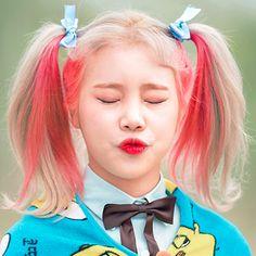 #JooE #Momoland #Icon Joo Won, I Have A Crush, Having A Crush, Kpop Girl Groups, Kpop Girls, Judo, Korean Girl, Asian Girl, Blonde With Pink