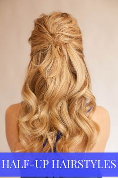 half up half down hairstyle...may try something like this for my dad's wedding