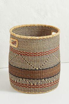 Afia Basket by All Across Africa in Beige Size: All, Storage at Anthropologie Big Basket, Rope Basket, Blanket Basket, Elizabeth Street, Safari Theme, My New Room, Outdoor Projects, Home Decor Inspiration, Wicker