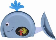 Paper plate whale and Jonah craft