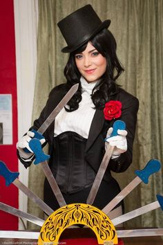 Zatanna and Trick Knives by zeraphie.deviantart.com