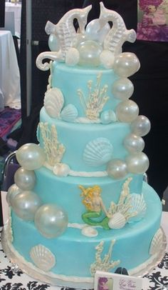beach bubble wedding cakes pictures - Google Search