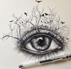 eye, art, and drawing Bild