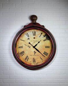 GIANT AGED POCKET WATCH CLOCK – HomeFarmGoods