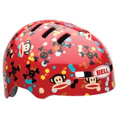Bell Youth Fraction Recreational Bicycle Helmet - Paul Frank Paint Ball