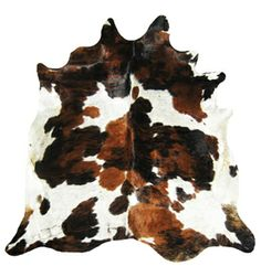 Brazilian cow hide rug - creating faux cowhide rug for my living room! yay!