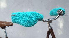 Strik uldne håndmuffer til cykelturen